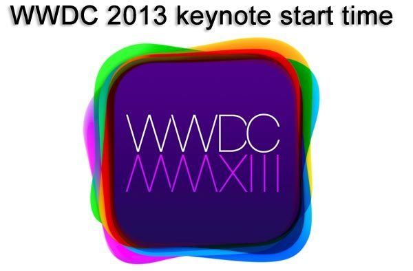 WWDC 2013 keynote start time in UK, US and by city