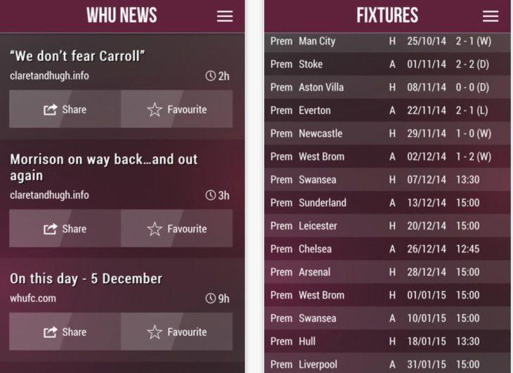 West Ham News app b