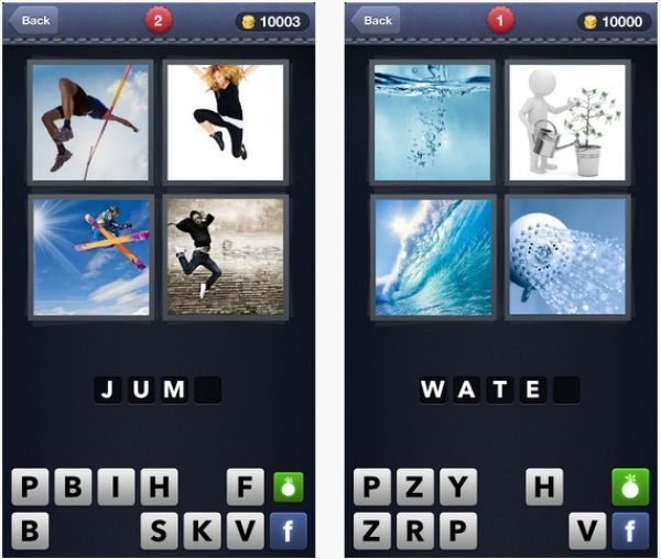 Whats the Word 4 Pics 1 Word puzzle app game