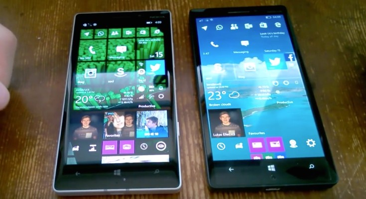 Windows 10 Mobile latest preview vs WP 8.1