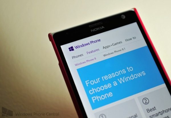 Windows Phone 8.1 teaser on Microsoft website