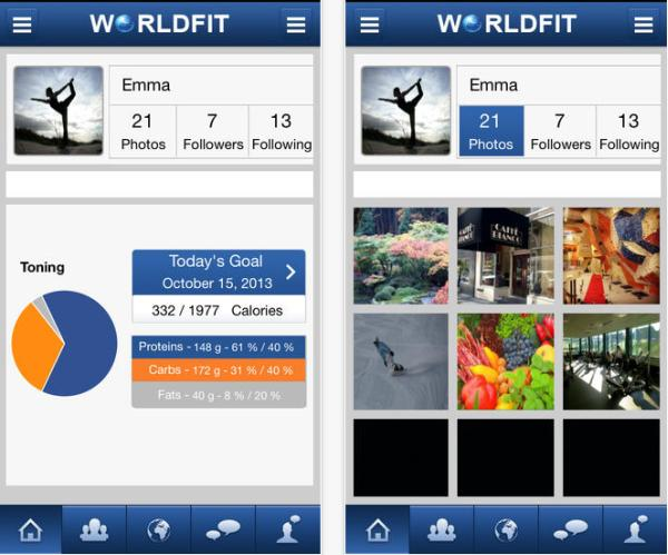 World Fit fitness app for iPhone helps tone, lose weight
