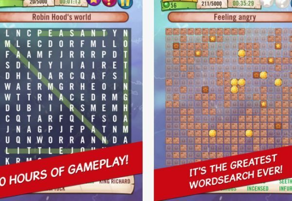 Worlds biggest free word search puzzle mobile game [ic 1