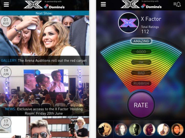 X Factor app update but problems b