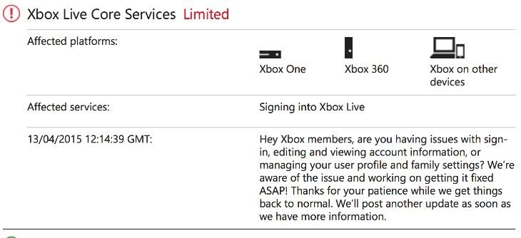 Xbox Live down, sign in problems on status page - PhonesReviews UK