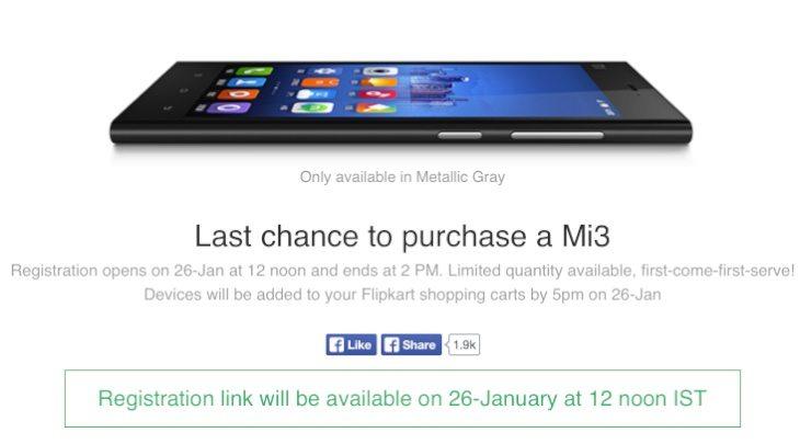 Xiaomi Mi3 last chance to buy
