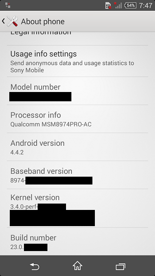 Sony Xperia Z3 Compact specs and a screenshot leak