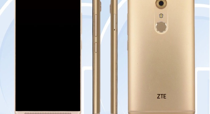 ZTE A2017 in certification images, probably the Axon 2