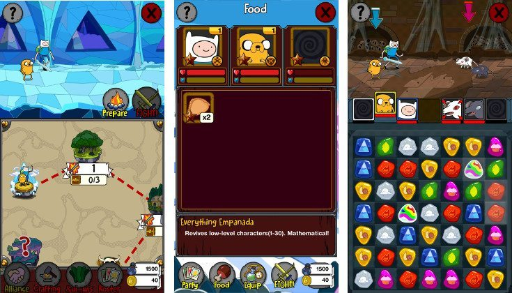 adventure time puzzle quest release