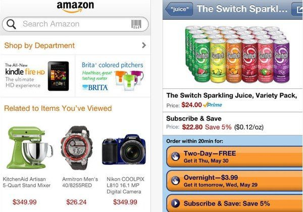Amazon app choice in time for Christmas shopping