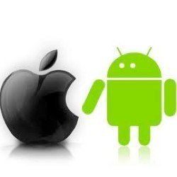 Android vs iPhone market share, 52 against 33 percent