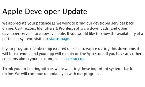 apple-developer-update-message-latest