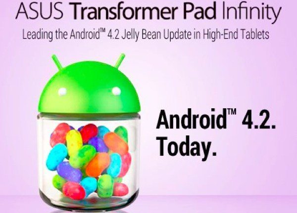 Asus Transformer Pad Infinity starts receiving Jelly Bean 4.2 update today
