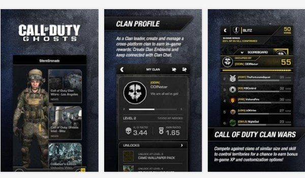 Call of Duty Ghost app update from feedback