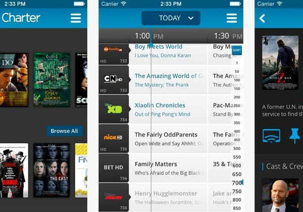 Charter TV app boasts over 100 live channels
