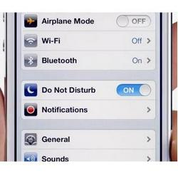 iPhone 5 Do Not Disturb feature allows you to dream on