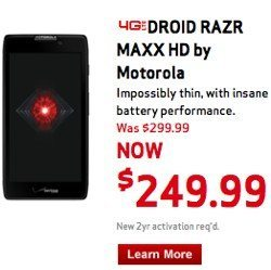 Verizon Droid phone holiday prices slashed, Amazon even better