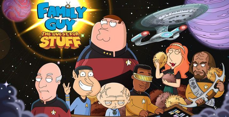 family guy quest star trek