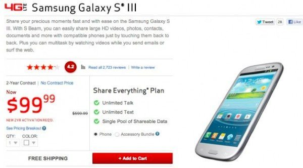 Galaxy S3 on Verizon price cut could signify new arrival