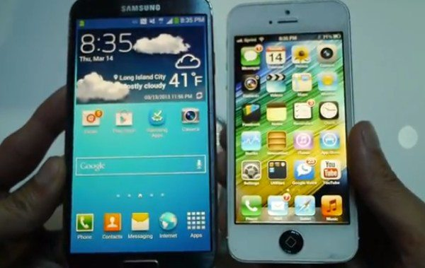 Galaxy S4 vs older iPhone 5, initial video comparison