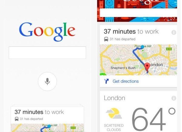 Google Search iOS app update 3.1.0, Google Now changes