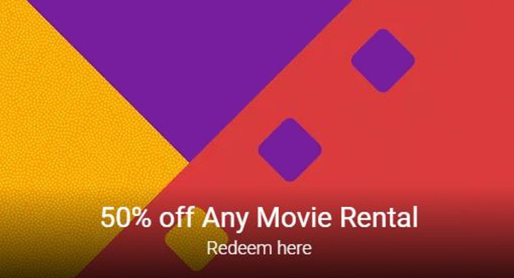 Rent a Flick for 50% off through Google Play Movies