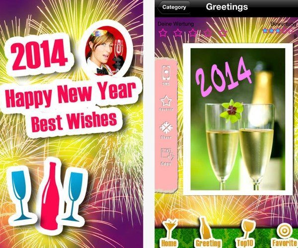 Happy New Year 2014, send 2015 messages via apps
