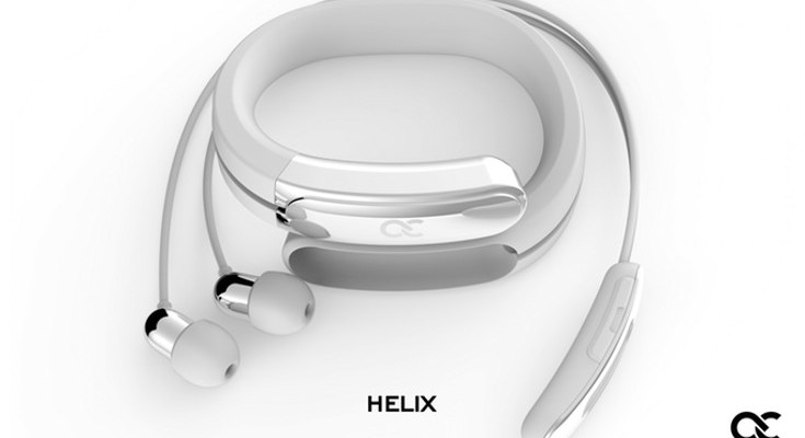 The Helix Wearable Cuff does away with tangled headphones