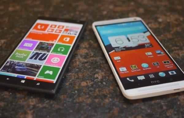 Lumia 1520 vs htc one max