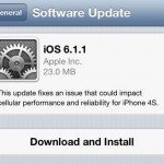 iOS 6.1.1 evasi0n killer update, fixes iPhone 4S 3G problems