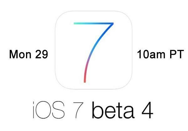 iOS 7 beta 4 release today and your expectations