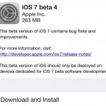 iOS 7 beta 4 released, download OTA now
