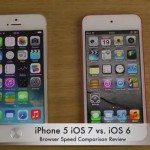 iOS 7 vs iOS 6 Safari review on iPhone 5