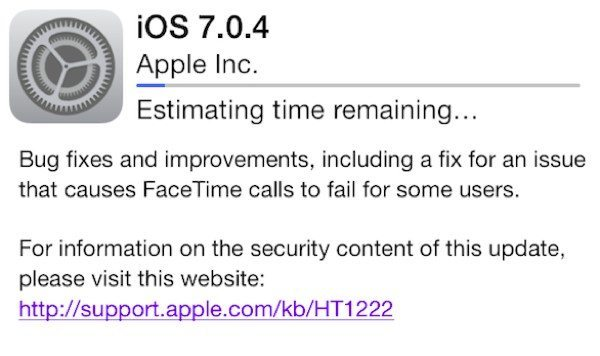 iOS 7.0.4 problems found so far