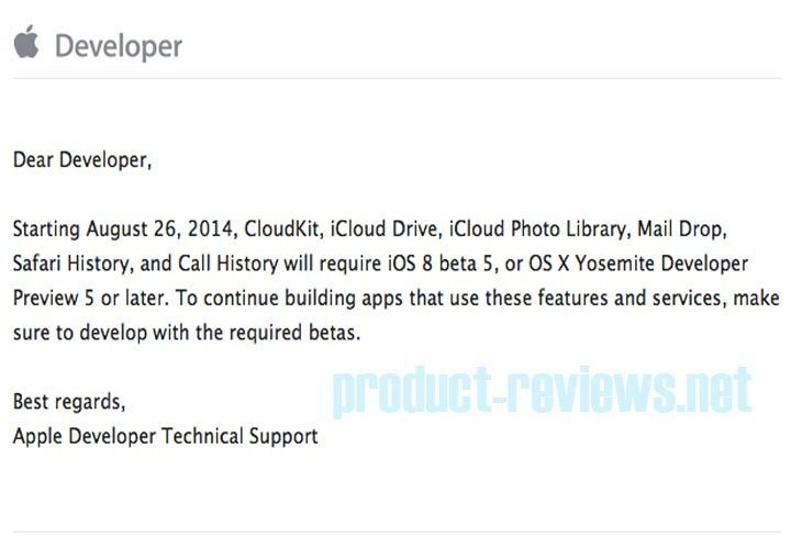 iOS 8 release date preparation with CloudKit b