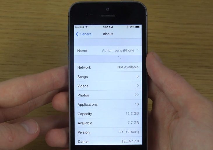 iOS 8.1 review of beta 1 on iPhone 5S