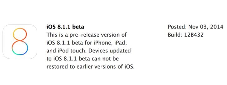 iOS 8.1.1 release on the way