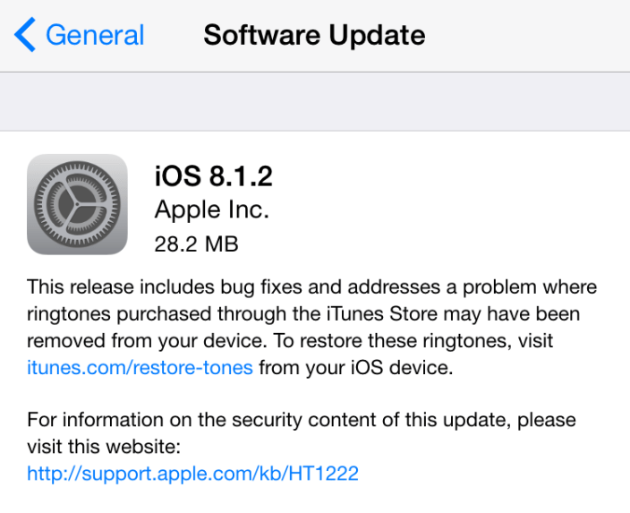 iOS 8.1.2 gets delivered to iPhones, iPads, with bugfixes