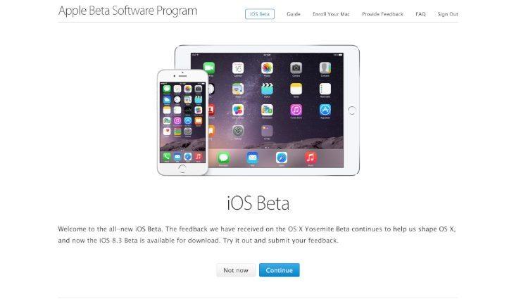 iOS 8.3 public beta