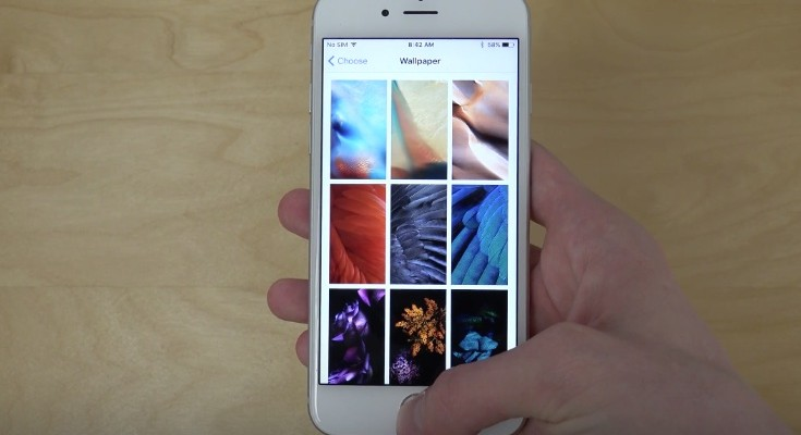 iOS 9 beta 5 new wallpapers