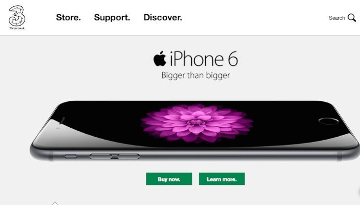 iPHone 6 Three UK orders