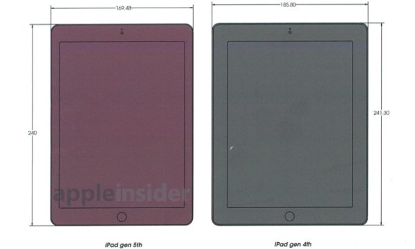 iPad 5 vs iPad 4 design differences pictured