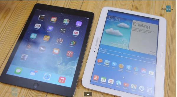 ipad air vs samsung galaxy tab video review