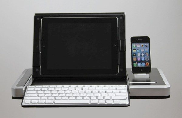Premature iPad accessory with 5 features, size an issue
