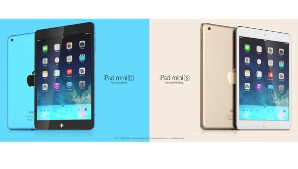 iPad mini S and mini C in gold and blue