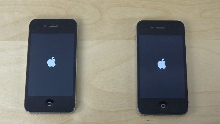 iPhone 4S on iOS 8.4 vs iOS 8.3 bootup speeds compared