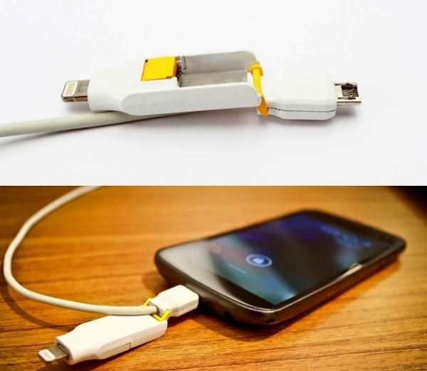 iPhone 5 & Android Orobis Transform 2-in-1 cable pic 4
