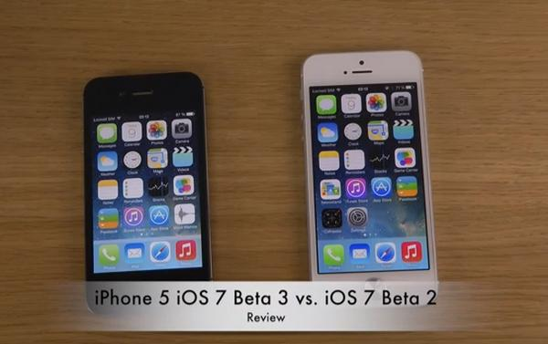 iPhone 5 iOS 7 beta 3 vs beta 2 reviewed