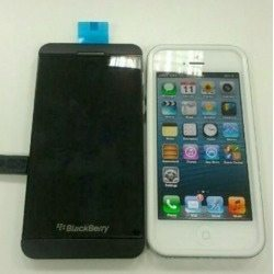 iPhone 5 sized up to BlackBerry 10 London