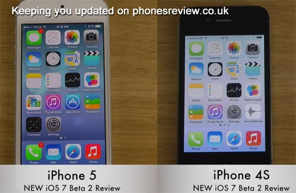 iPhone 5 vs. 4S, 4 on new iOS 7 beta update
